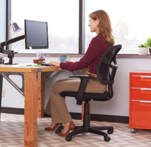 The AmazonBasics MidBack Mesh Chair
